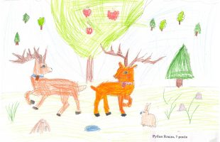 "Children's drawing competition ""Winter's Tale"" (2016)"