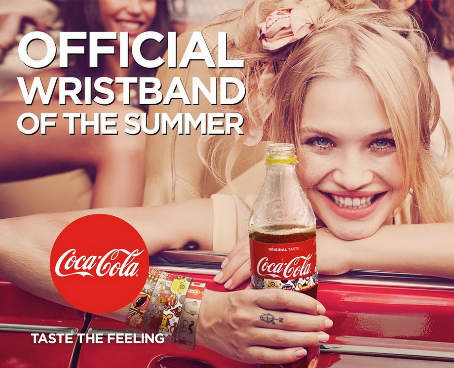 Этикетки-браслеты от Coca-Cola