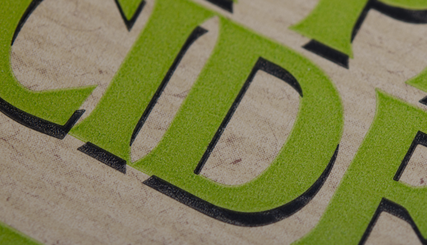 self-adhesive labels with a matte textured surface